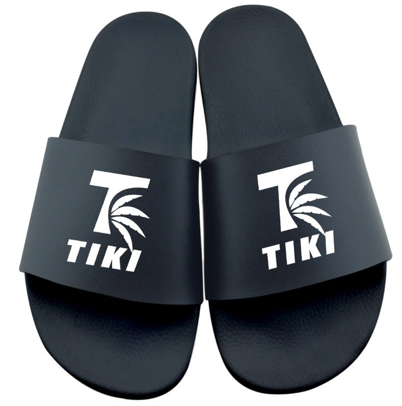Image of Tiki Palm Leaf Black Slides