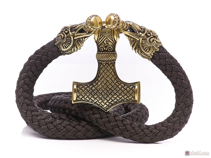 Thor's Hammer : MJOLNIR + Huginn & Muninn Paracord Necklace