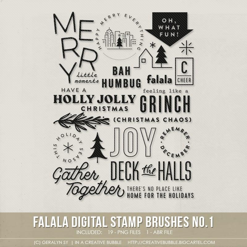 Image of Falala Stamp Brushes No.1 (Digital)