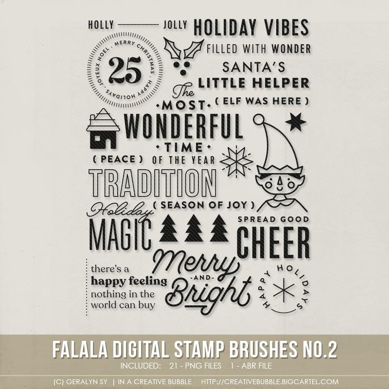 Image of Falala Stamp Brushes No.2 (Digital)