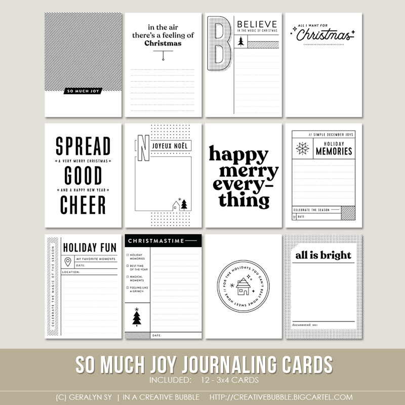 Image of So Much Joy Journaling Cards (Digital)