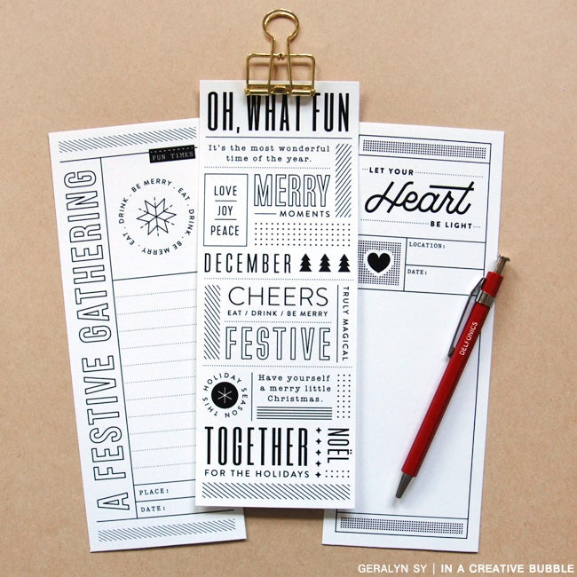 Image of 3x8 Holiday Cheer Journaling Cards (Digital)
