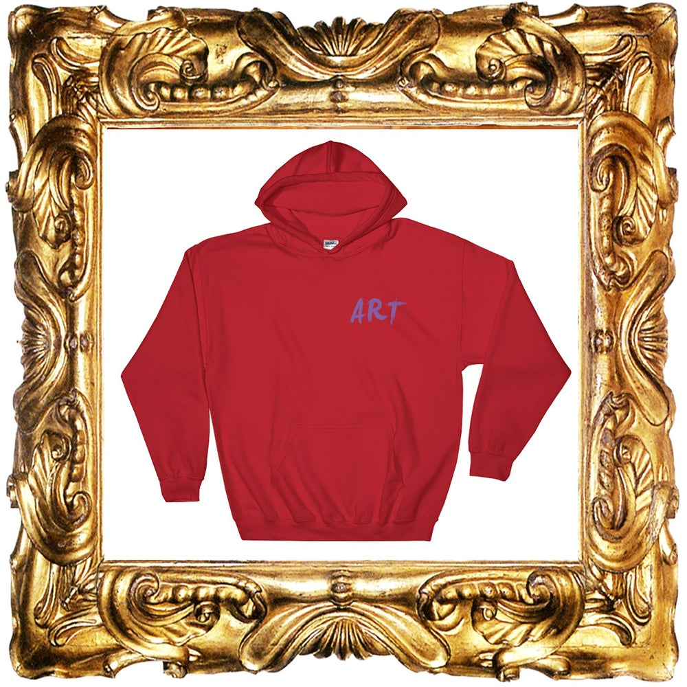 Image of Red Art Hoodies