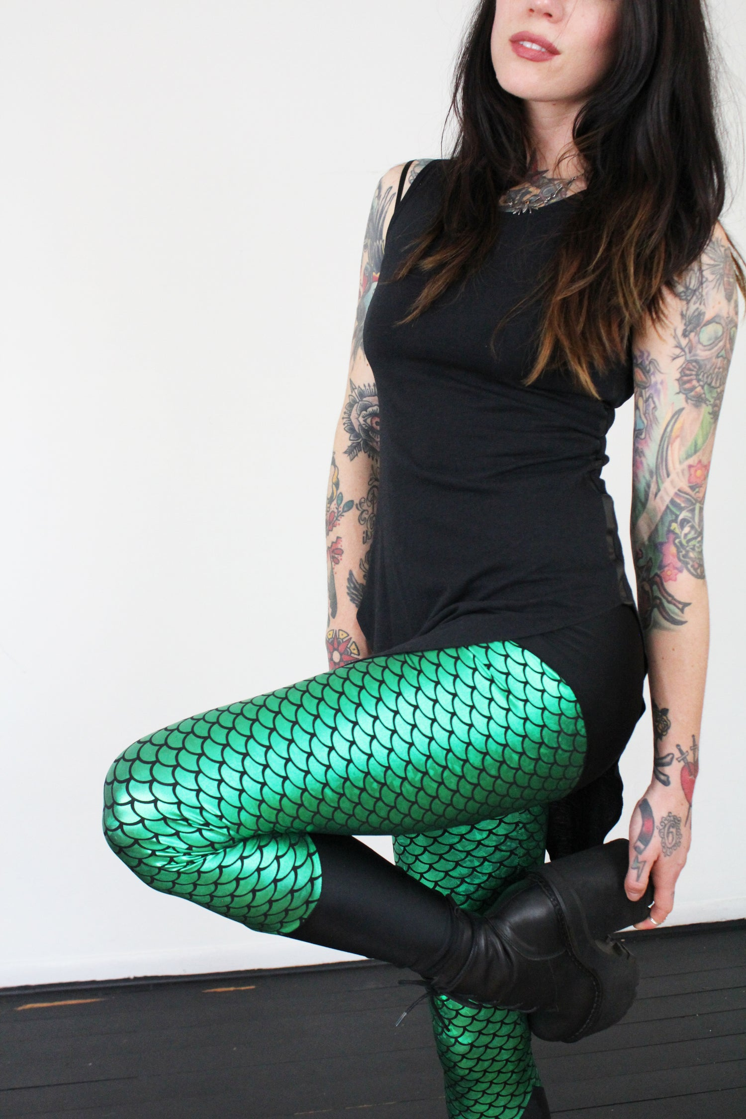Image of Green Mermaid Leggings