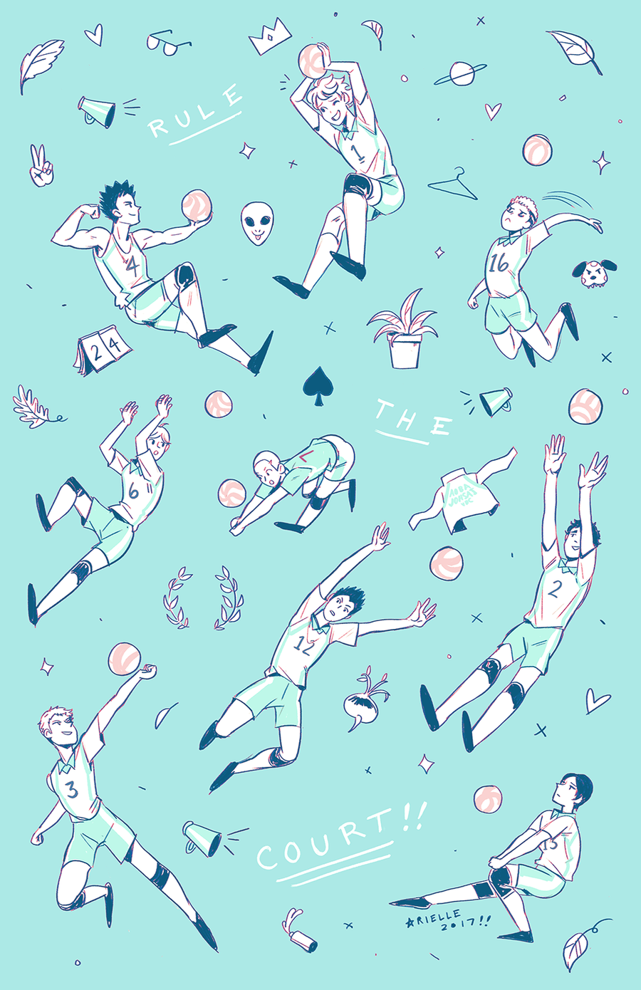 "Image of ""RULE THE COURT!!"" Print"
