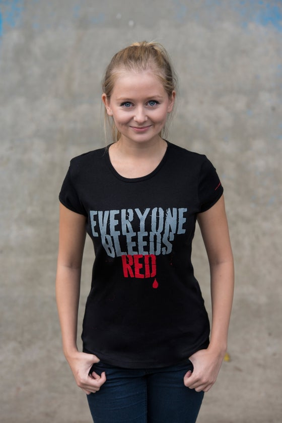 "Image of OFFICIAL ""EVERYONE BLEEDS RED"" WOMEN'S T-SHIRT"