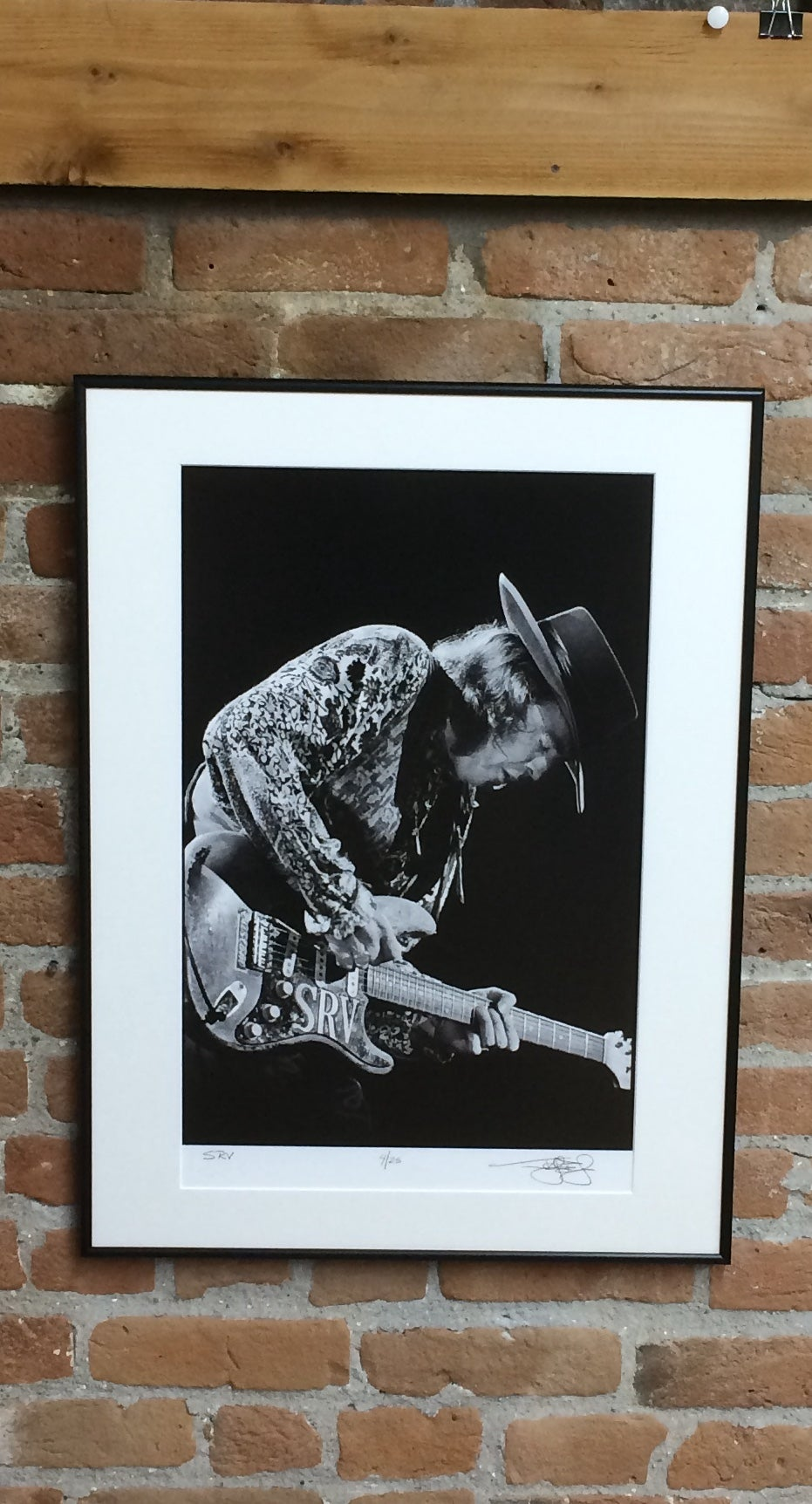Image of Stevie Ray Vaughan (Oakland, CA, 1989) :: Limited Edition Framed Fine Art Print