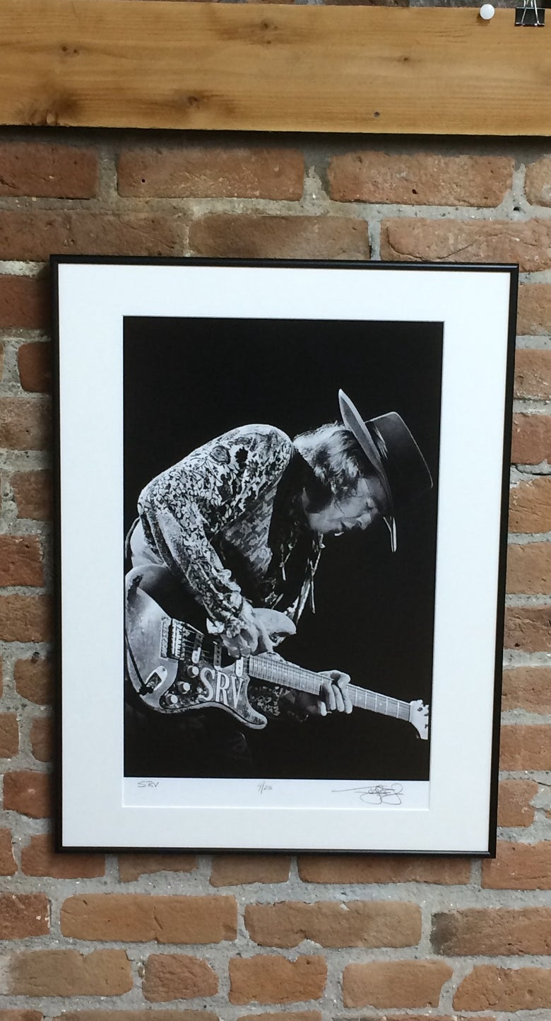 Image of Stevie Ray Vaughan (Oakland, CA, 1989) :: Limited Edition Custom Framed Fine Art Print