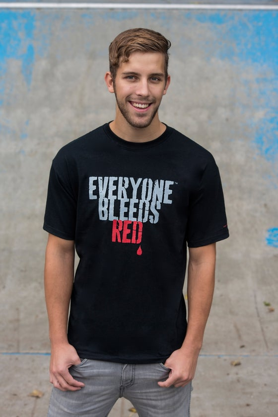 "Image of OFFICIAL ""EVERYONE BLEEDS RED"" MEN'S T-SHIRT"