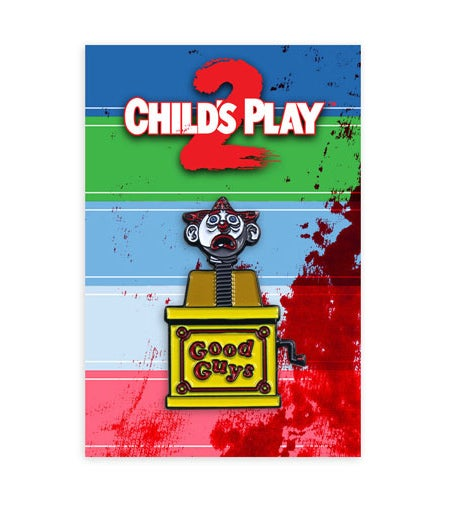 Image of Child's Play 2 Jack in the Box pin.