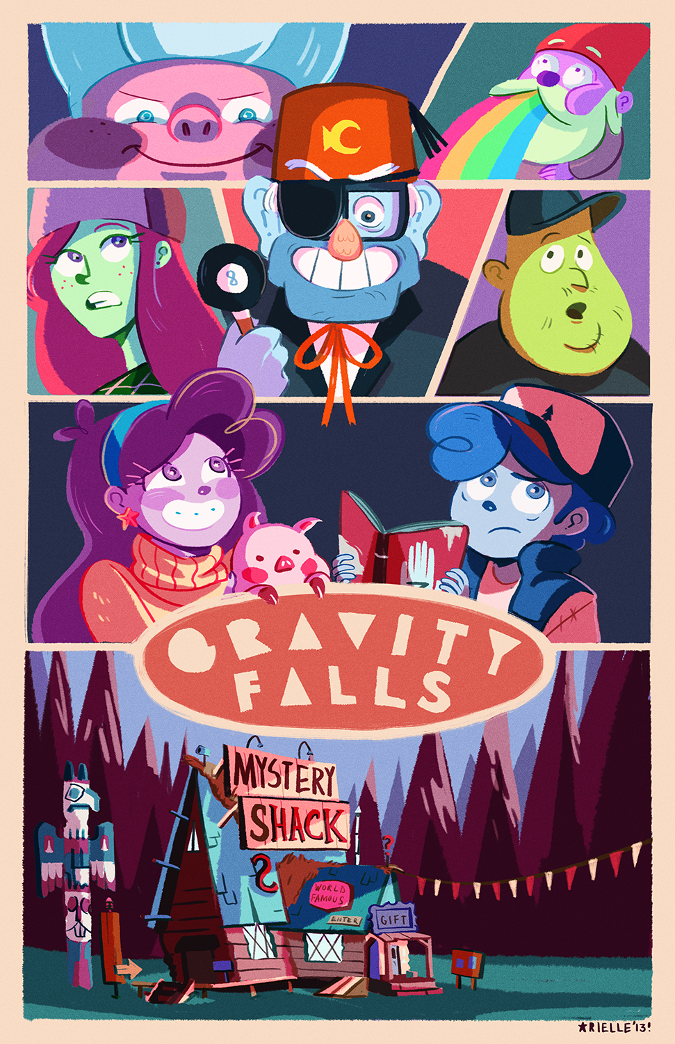 Image of Gravity Falls Print