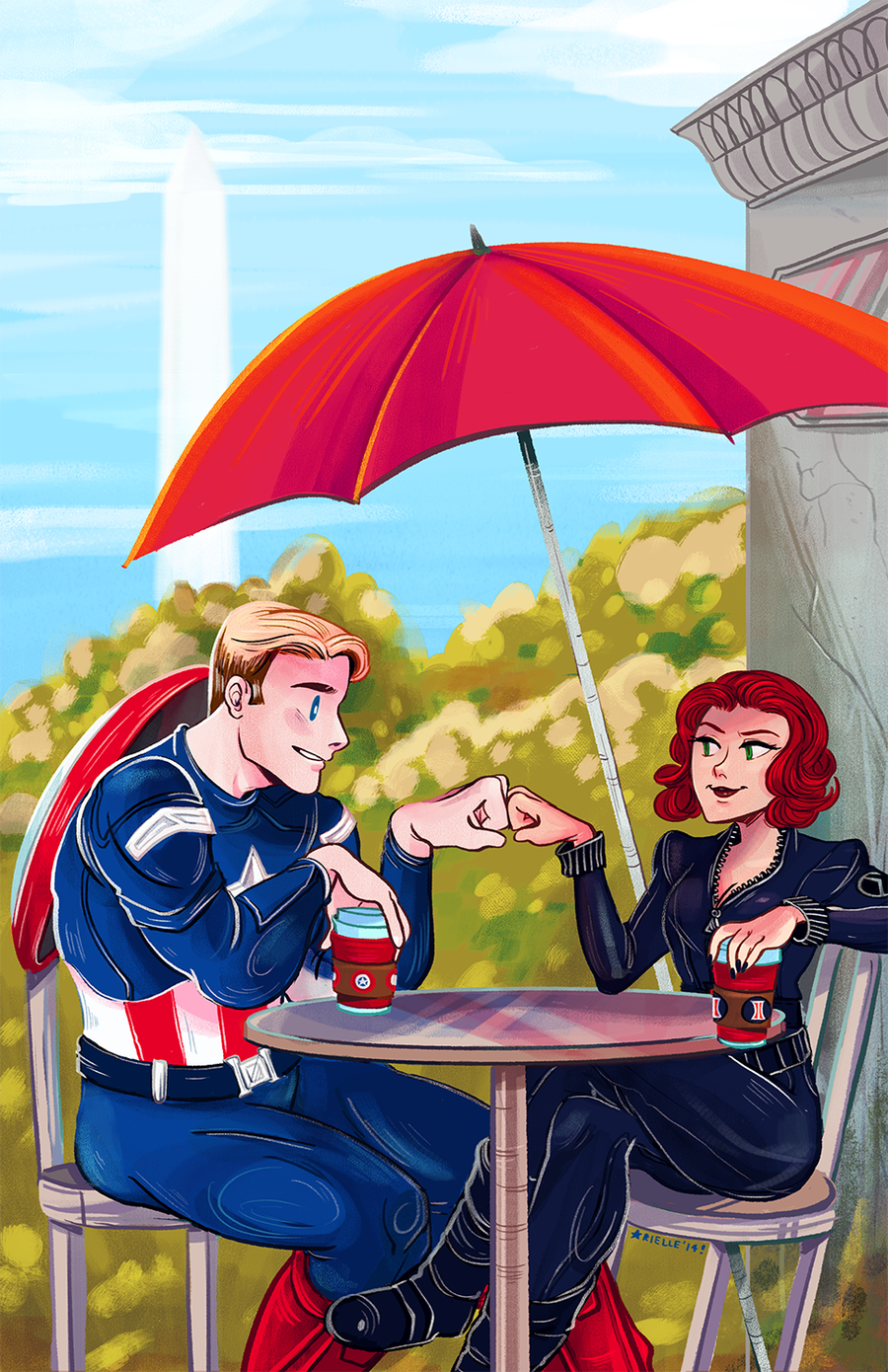 Image of Cap & Nat Print