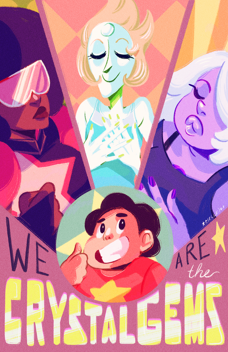 "Image of ""We are the Crystal Gems"" Print"