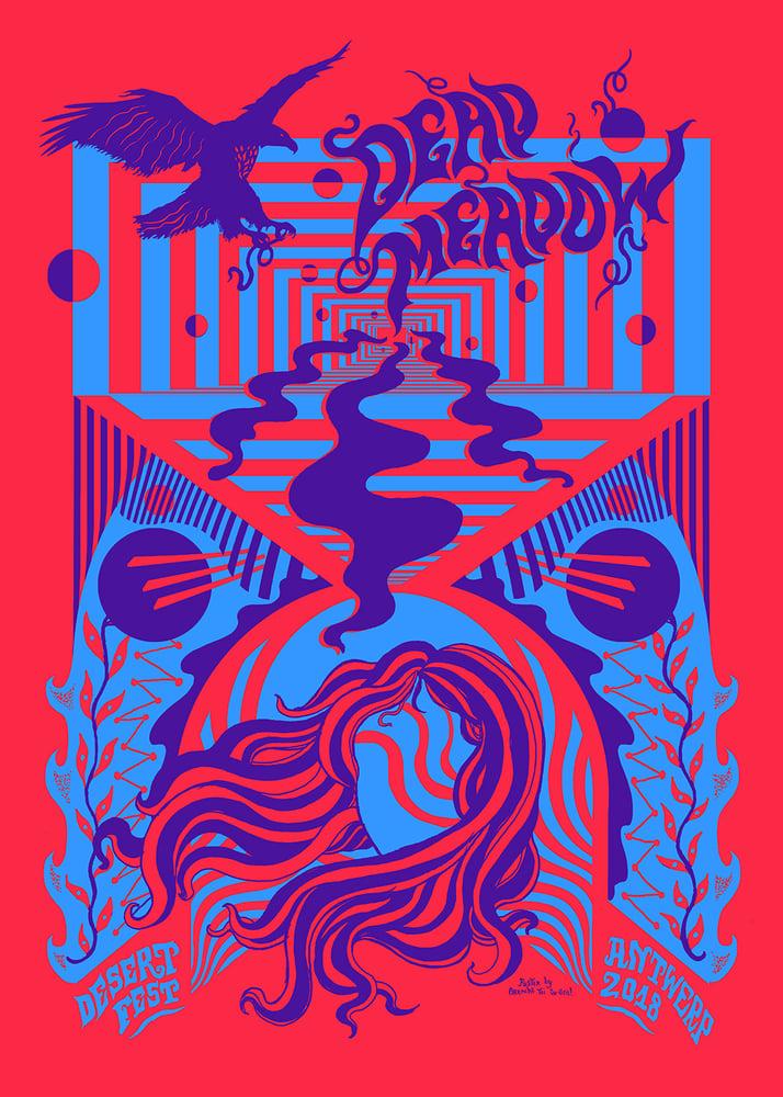 Image of DEAD MEADOW (Desertfest Antwerp 2018) screenprinted poster