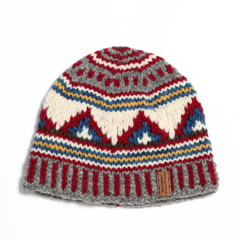 """Image of """"Peaks"""" Midweight Toque (custom multi colored) - lined"""