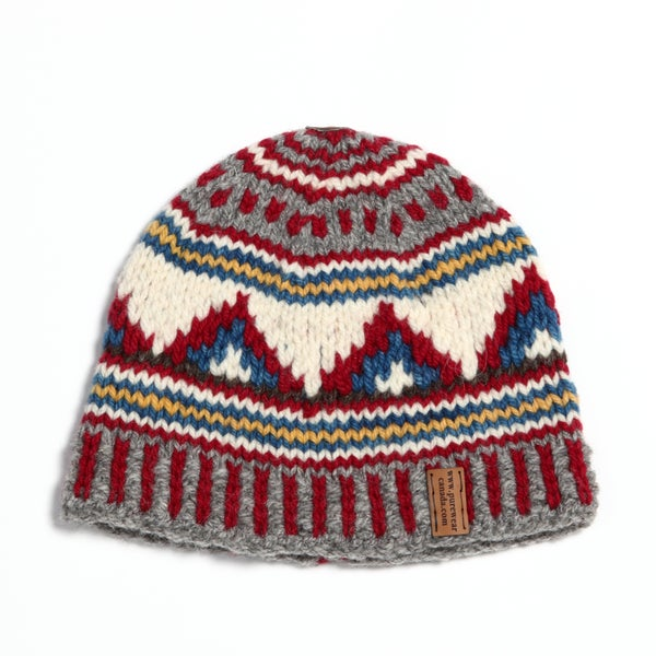 "Image of ""Peaks"" Midweight Toque (custom multi colored) - lined"