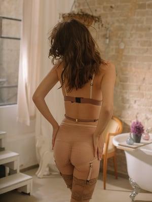 Image of MADDIE 'Stars' Silk satin peek a Boo Bra