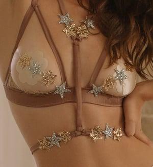 Image of MADDIE 'Stars' Silk satin Body Harness belt