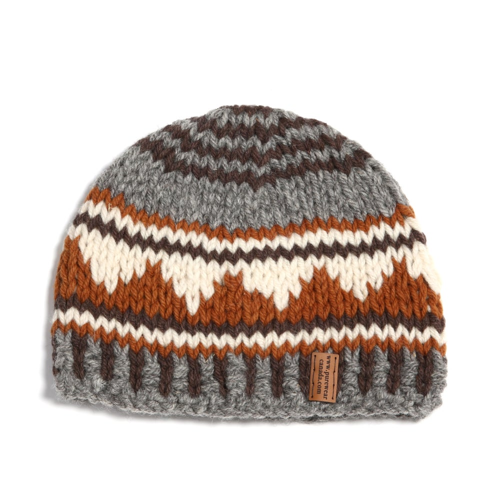 "Image of ""Mountain Silhouette"" Chunky Toque (brown)"