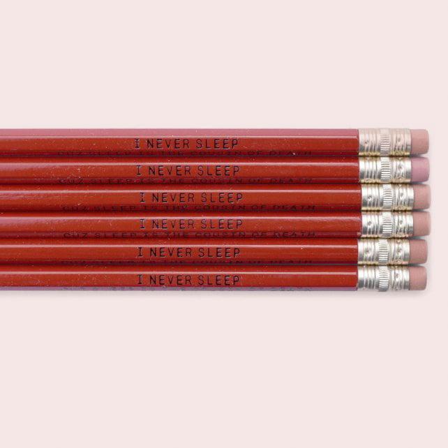 """Image of Nas """"I Never Sleep Cuz Sleep Is The Cousin Of Death"""" Pencil"""