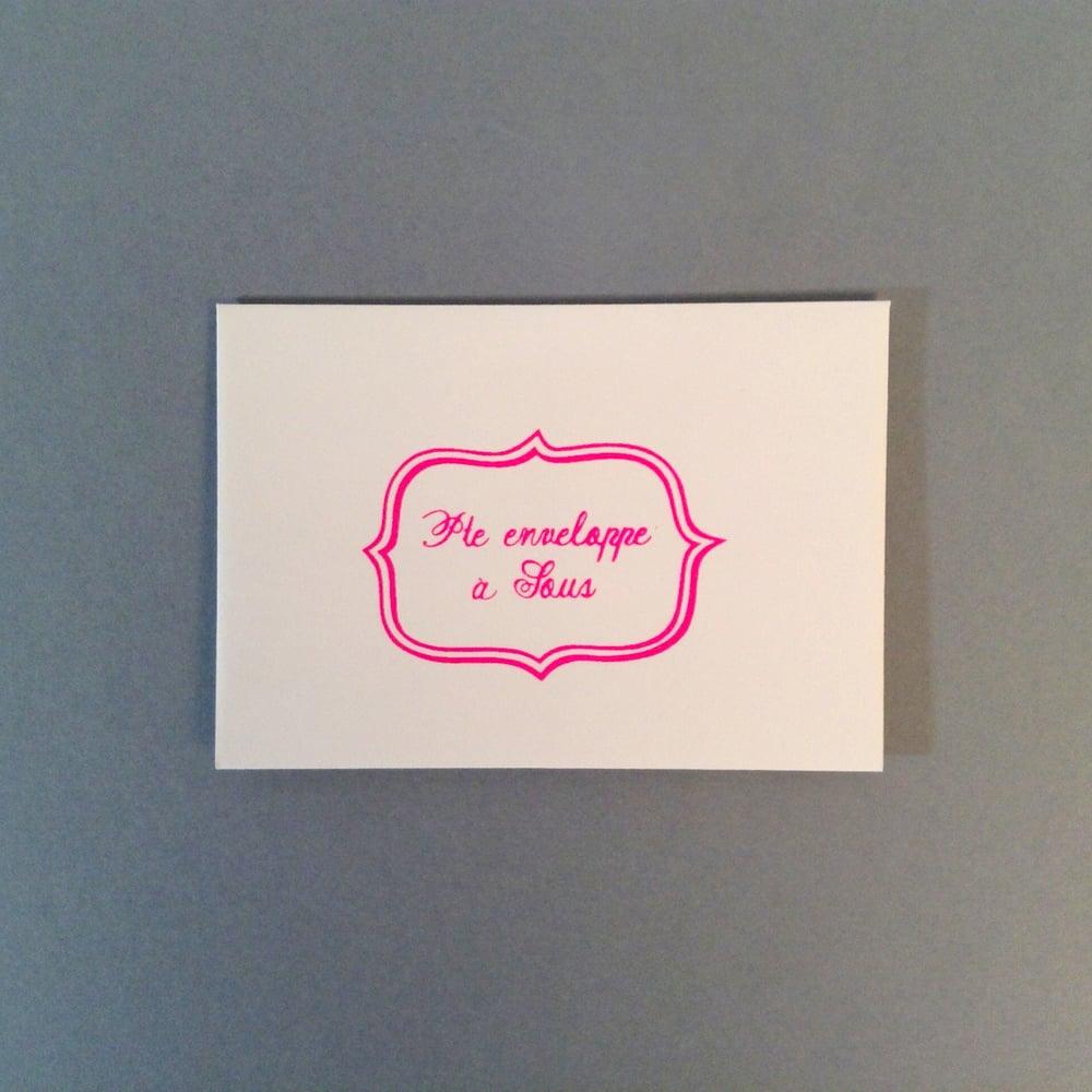 Image of Enveloppe à dringuelle / dringuée