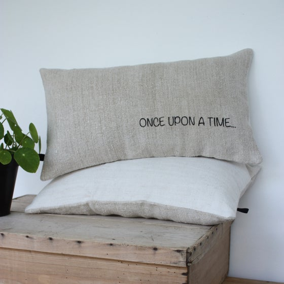 Image of Coussin en chanvre Once upon a time...