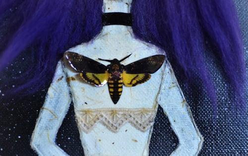 Image of Acherontia atropos I [OOAK. Mixed media]. Dark doll, handmade doll, ooak doll, gothic doll