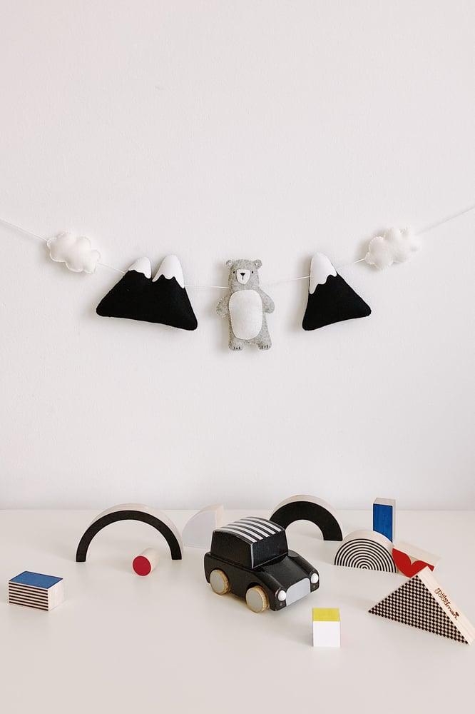 "Image of ""The Curious Bear"" Garland"