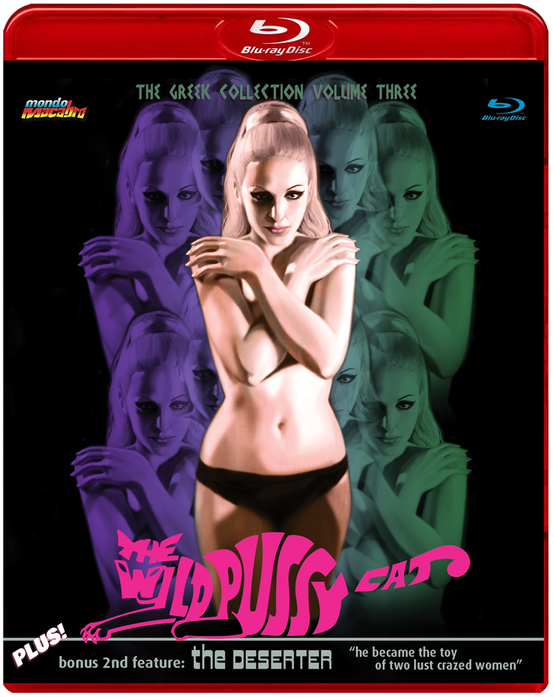 Image of GREEK COLLECTION VOL. 3: THE WILD PUSSYCAT/THE DESERTER - Red Case Limited Edition Blu-ray