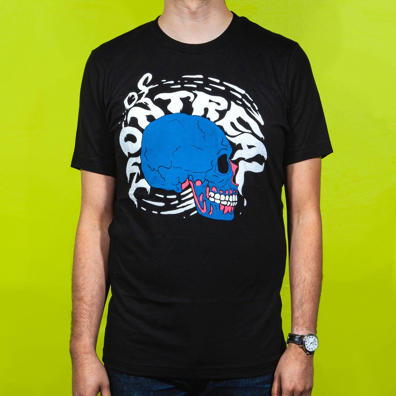Image of Black Light Skull T-Shirt (Black)