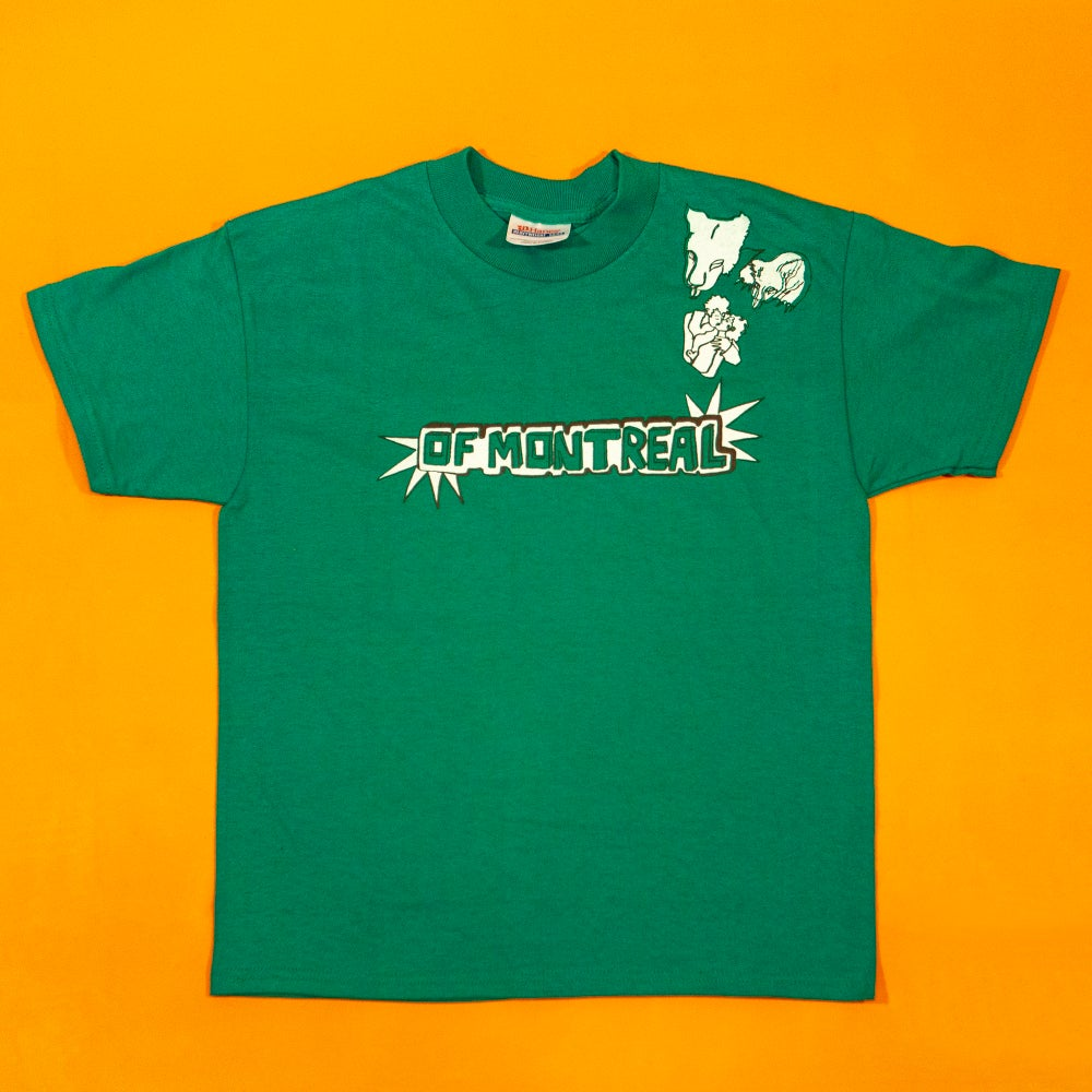 Image of Growl Growl Kiss Youth Shirt (Green)