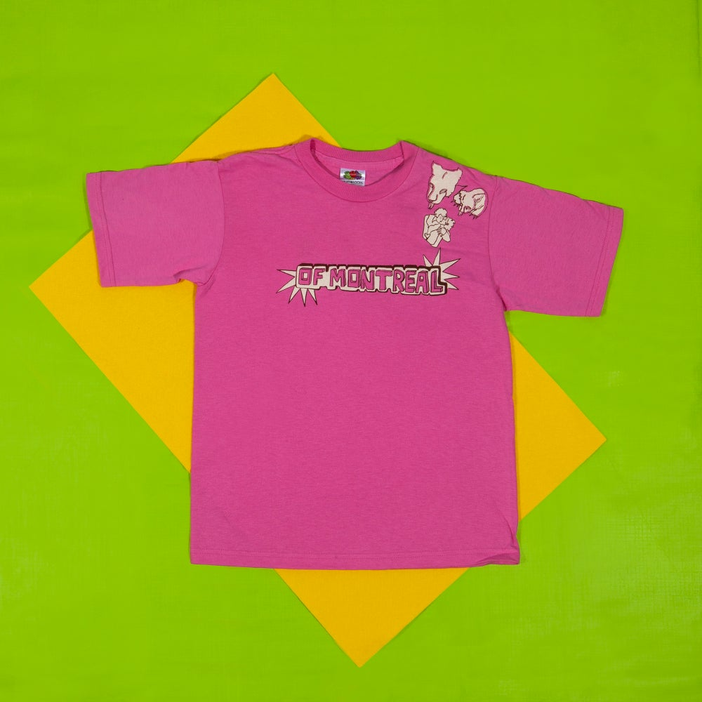 Image of Growl Growl Kiss Youth Shirt (Pink)