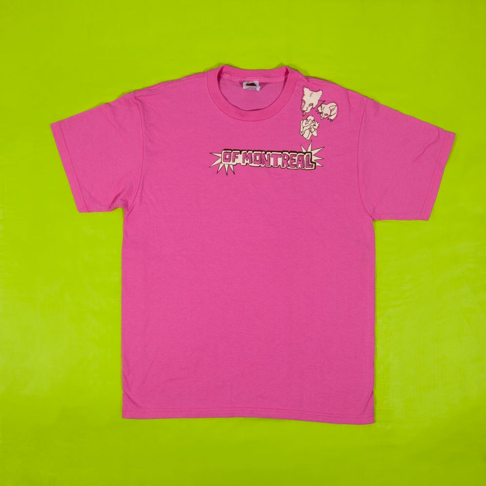 Image of Growl Growl Kiss T-Shirt (Pink)