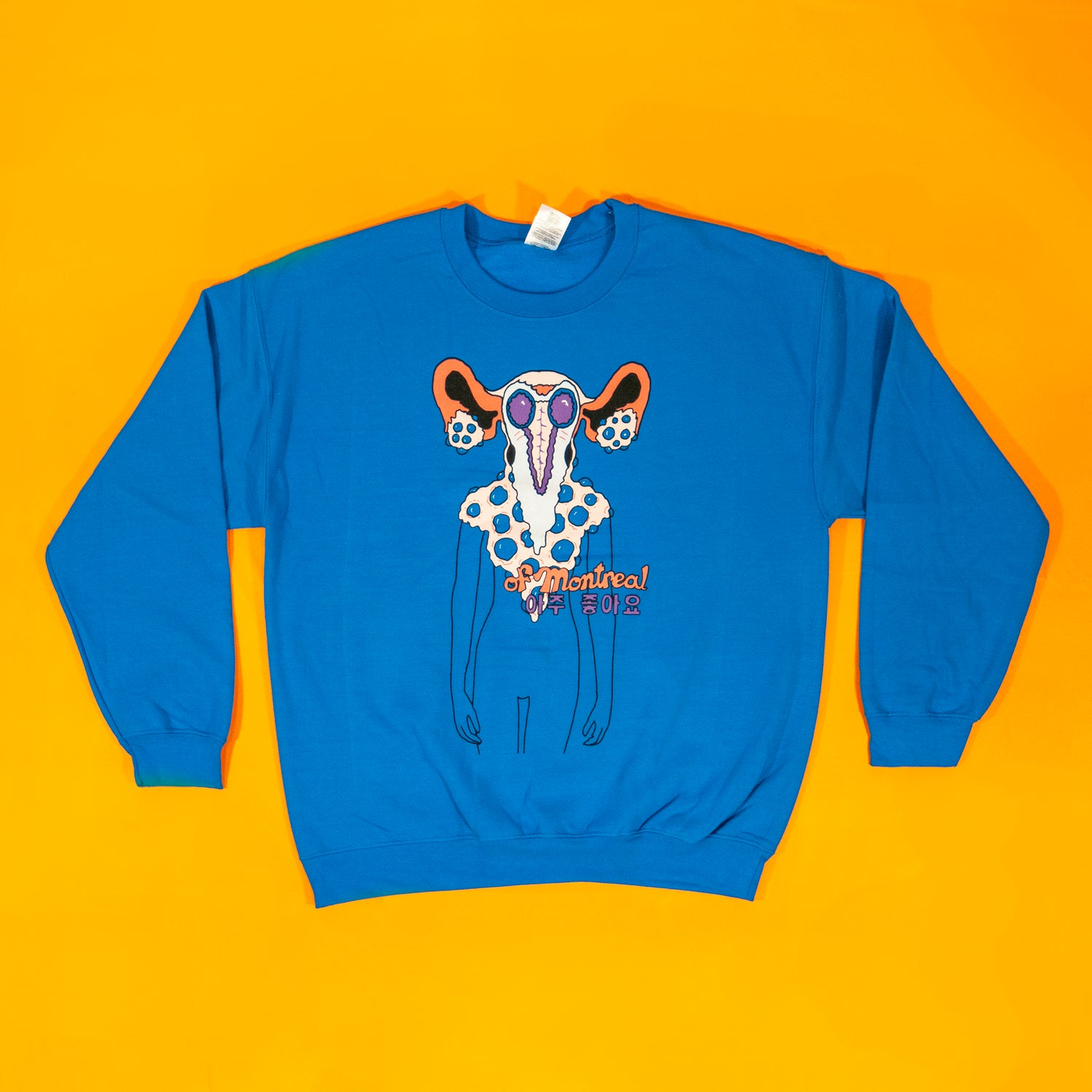 Image of Uterus Face Sweatshirt (Blue)