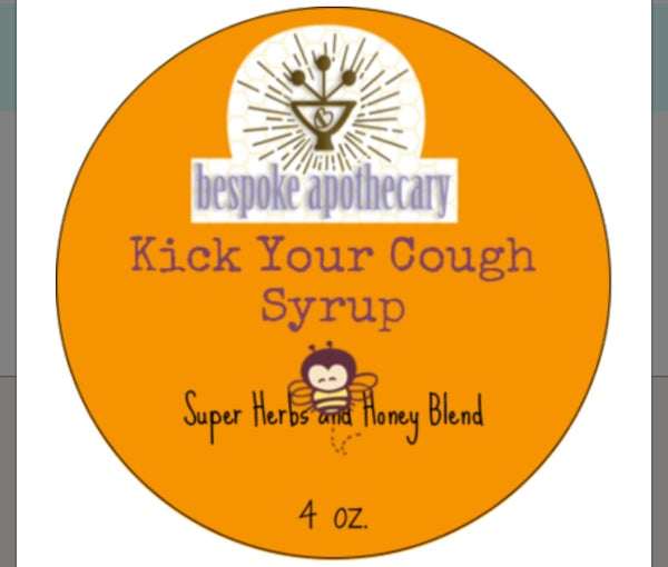 Image of 4 oz. KICK YOUR COUGH - HONEY HERBAL COUGH SYRUP