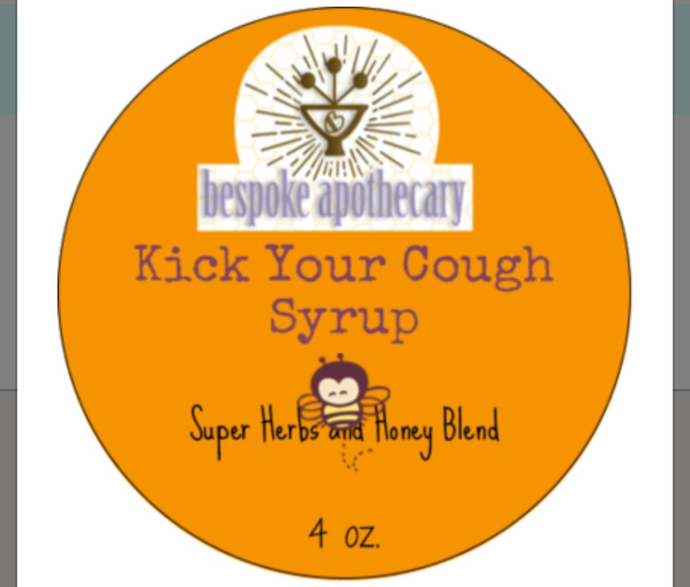 4 oz. KICK YOUR COLD COUGH SYRUP /  HONEY & HERB COUGH SYRUP
