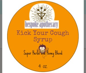 Image of  4 oz. KICK YOUR COLD COUGH SYRUP /  HONEY & HERB COUGH SYRUP