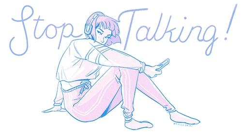 "Image of ""Stop Talking!"" Sticker"