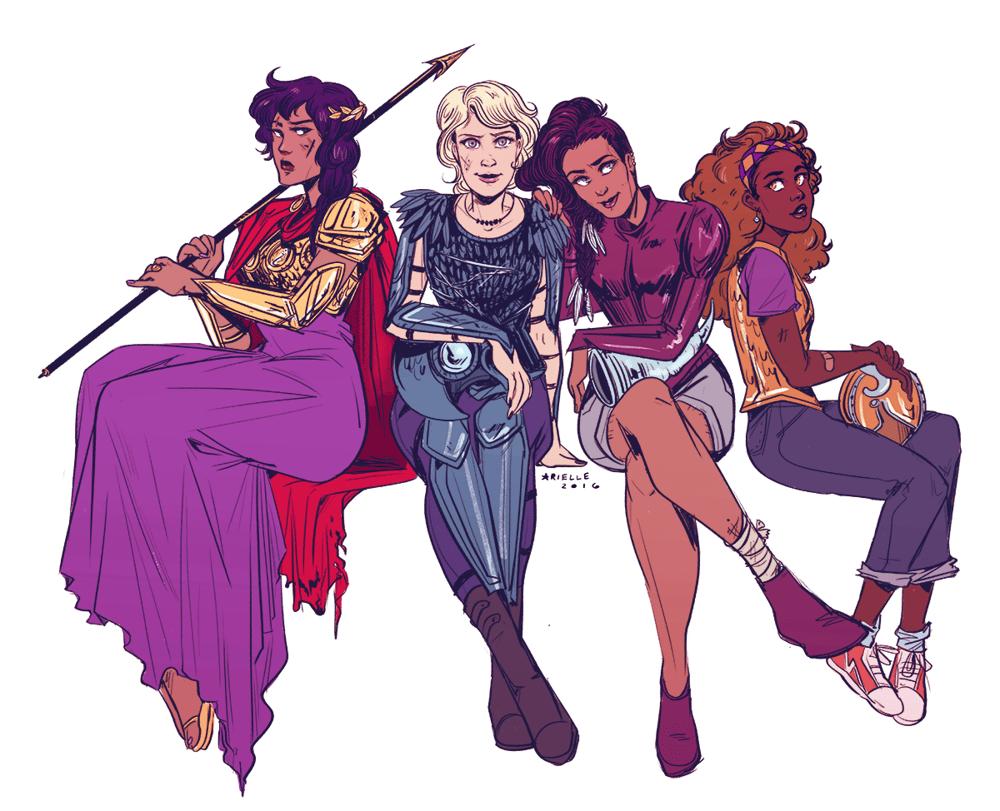 Image of Heroines of Olympus Print
