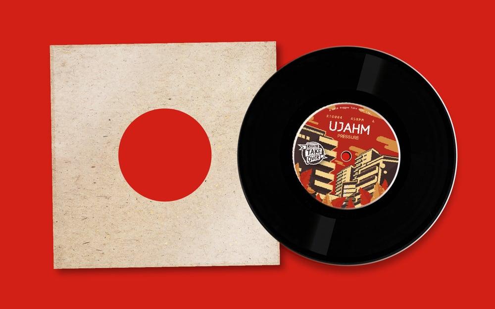 "Image of Ujahm & Zion Train - Pressure 7"""