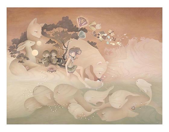 Image of Amy Sol 'Sea Ice Caravel' large print only a few left!