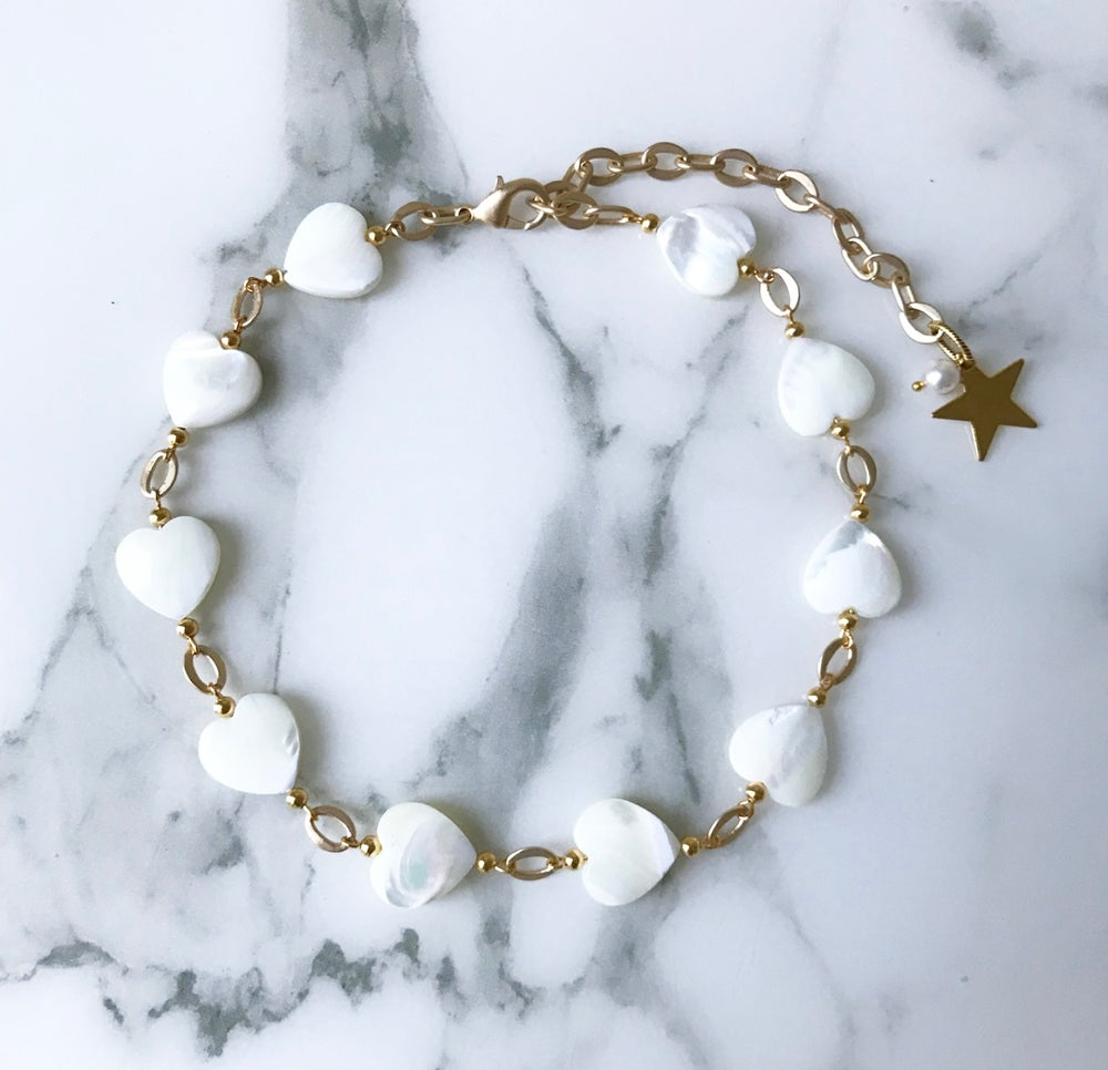 Image of Heart pearl Necklace