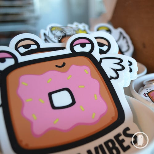 Image of Doughnut 'Vegan Vibes' (Die-Cut Sticker)