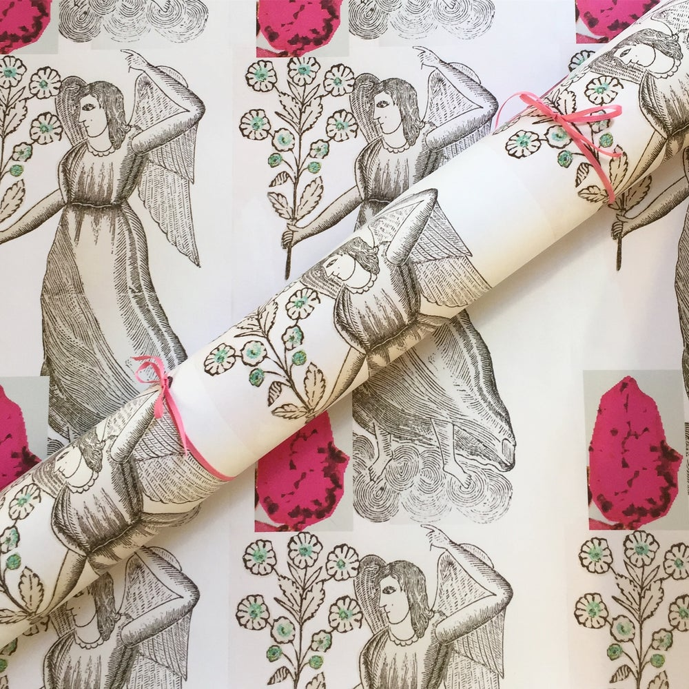 Image of Spring Angel Wrapping Paper / Two Sheets