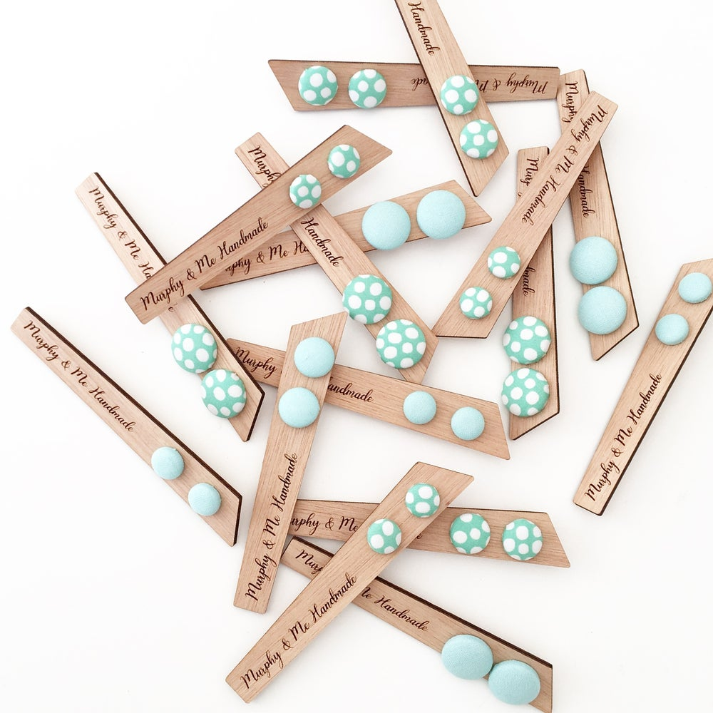 Image of Mint + Spots Studs