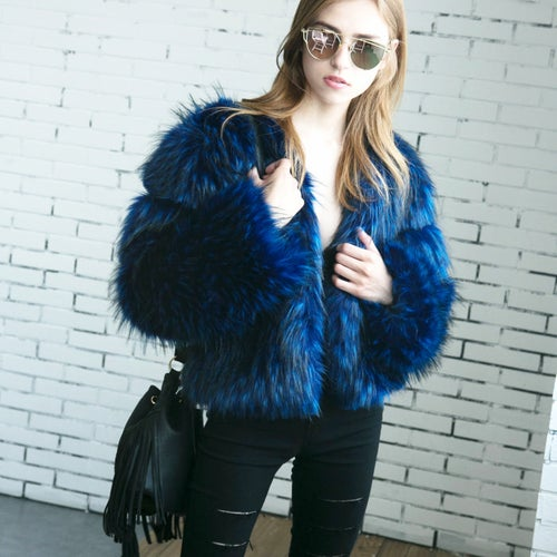 Image of Trina Faux Fur Coat