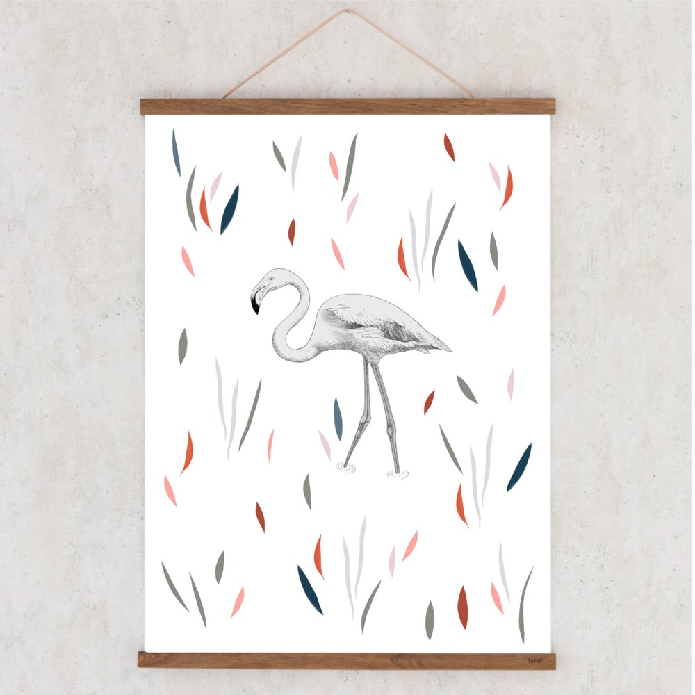 Image of Affiche A3 Flamant Rose / A3 poster Flamingo