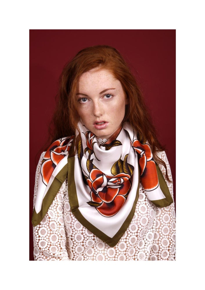 Image of 'Mrs Belisana' Silk Scarf (Large)