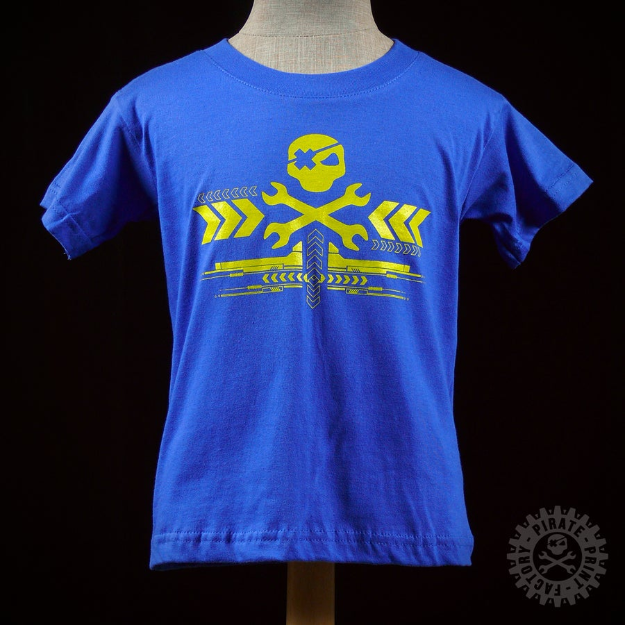 Image of T-SHIRT YELLARROW KID BLEU