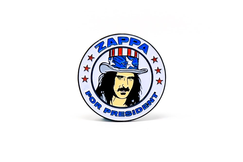Image of Frank Zappa For President Enamel Pin